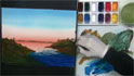 Captain Watercolor demonstrates painting  Sunrises / Sunsets - How to paint the islands